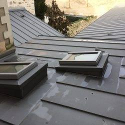 couverture de toit en zinc