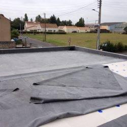 Installation membrane EPDM sur Nantes
